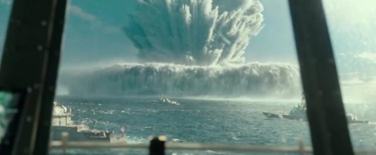 Взрыв на море
