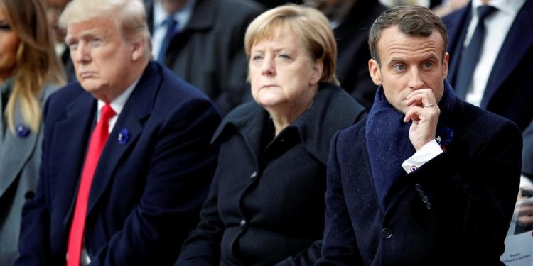 Трамп Меркель Макрон