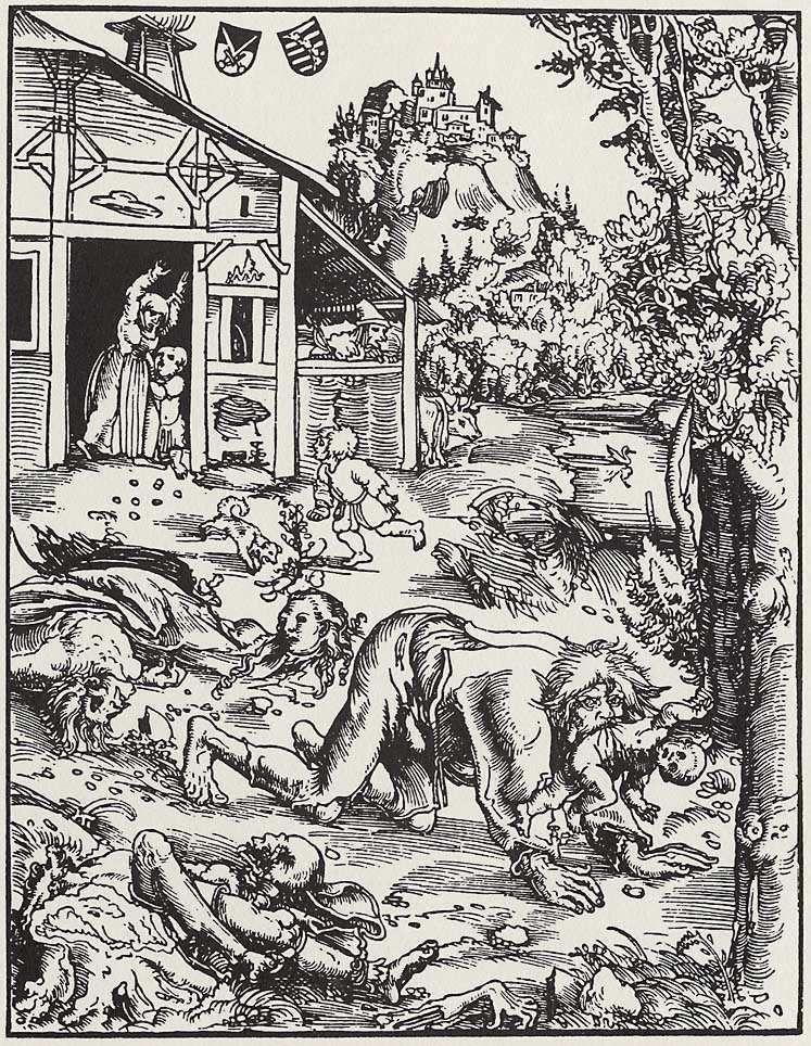 Вовкулака у зображенні Лукаса Кранаха Старшого, 1512 р.